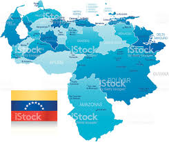 Venezuela Map Map Of Venezuela States Cities And Flag Stock Vector Art 165907893