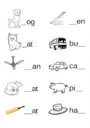 english worksheets fill in the missing letter 3 letter words