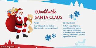 festive infographic reveals gthe world s 13 unique santa claus