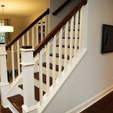 lorna 1950 u0027s cape cod stairs railings mix of dark wood with