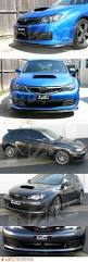 subaru wrx hatchback spoiler matt black front bumper bar lip spoiler for subaru sti 08 10 grb
