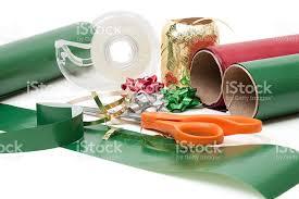 christmas gift wrapping supplies christmas present wrapping supplies stock photo istock