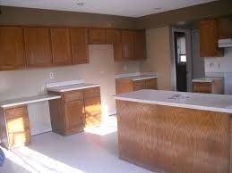 Finished Kitchen Cabinets Refinishing Oak Kitchen Cabinets Before And After Floor Decoration