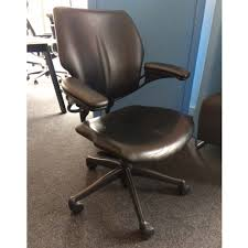 aof second hand humanscale freedom task chairs leather