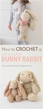 stuffed bunny classic stuffed bunny crochet pattern for easter one dog woof