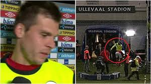 Norway keeper Rune Jarstein storms out of post match interview after Slovenia victory