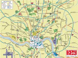 Map Of Kentucky And Ohio by Cincinnati Tourist Map Cincinnati U2022 Mappery