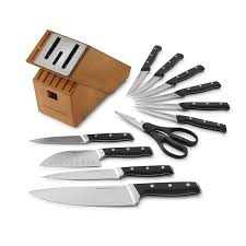 How To Sharpen Kitchen Knives At Home Amazon Com Calphalon Classic Self Sharpening Cutlery Knife Block