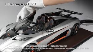 car koenigsegg one 1 koenigsegg one 1 with 1 8 scale frontiart model co ltd youtube