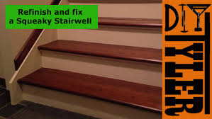 Fix Creaky Hardwood Floors - fix and refinish a squeaky staircase 012 youtube