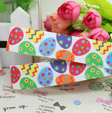 easter ribbon dhk 7 8 5yards easter egg printed grosgrain ribbon hair bow diy