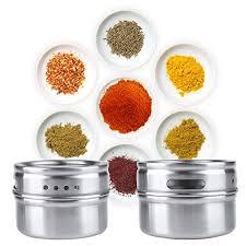 portaspezie magnetico enko acciaio inossidabile magnetico spezia tin per la cucina