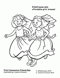 first communion dress coloring pages free and printable