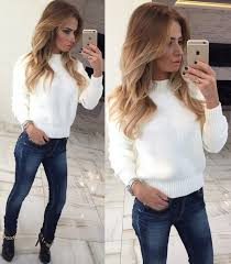 sweater white knitwear knitted sweater white sweater