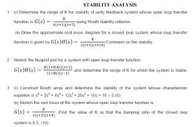 important short questions answers tutorial problems stability