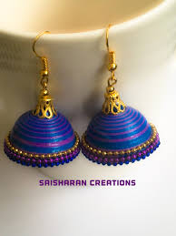earrings paper paper quilling jhumkas paper quilling jhumkas jewelry