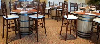 Cocktail Tables With Seating Wine Barrel Cocktail Tables Rental La Oc