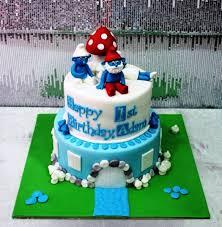 image gallery smurf cake