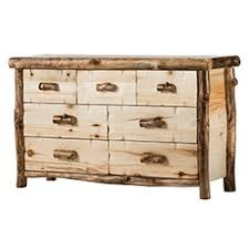 rustic bedroom dressers by woodland creek u0027s log furniture place