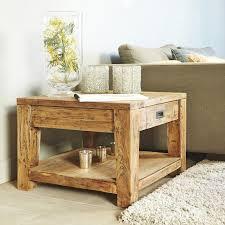 table basse bout de canapé table basse bout de canapé en teck recyclé lyndon teckandco