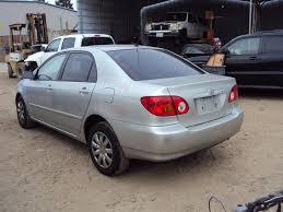 toyota corolla sedan 2003 2003 toyota corolla 4 door sedan le model 1 8l at fwd color silver