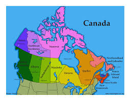 map of canada by province canadian province ontario