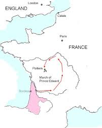 map of poitiers the battle of poitiers in 1356