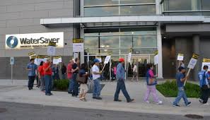 Faucet Company Watersaver Workers Picket For U0027fair U0027 Contract Protest Over