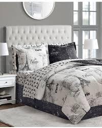 Black And Gray Duvet Cover Paris Themed Bedding