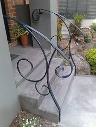 metal stair railing for front step pipe railing pinterest