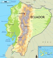 South America Physical Map by Large Physical Map Of Ecuador With Major Cities Ecuador South