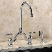 Bridge Kitchen Faucets Rohl Perrin U0026 Rowe Bridge Kitchen Faucet With Sidespray Tall