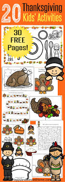 20 free pages of thanksgiving activities for place