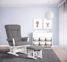 Rocking Chair Dutailier Dutailier Modern Grande Glider White Charcoal Babies