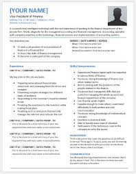vice president of finance resumes for ms word resume templates