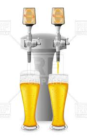 Beer Faucet Beer Equipment Beer Faucet And Glass Vector Clipart Image 19129