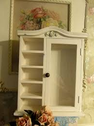 small curio cabinet with glass doors small wall mount curio cabinet w glass door 5 shelves shabby