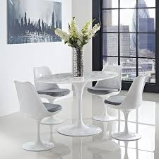 White Dining Room Table by Amazon Com Modway Lippa 60