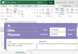 Goals And Objectives Template Excel Idea Planner Template For Excel For Tasks Goals And Objectives