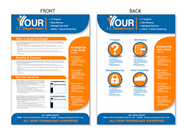 design flyer modern professional flyer design for your it department ltd by