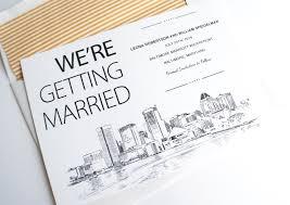 Save The Date Cards U S City Skyline Save The Dates Creative Wedding Ideas Place