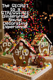 the secret to a stress free gingerbread house decorating