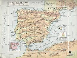 Spain Portugal Map by Map Of Spain And Portugal 1900 Scissors Kick