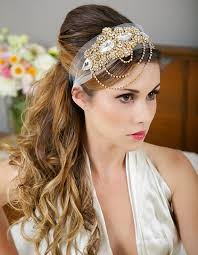 great gatsby headband gold headband veil wrap gold deco great gatsby