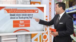 should retail stores be closed on thanksgiving today viewers say
