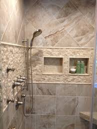 Porcelain Tiles Mikonos Coral Sand Porcelain Tiles Installed In A Shower With