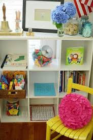 vintage style reading nook homeschool room love the colors
