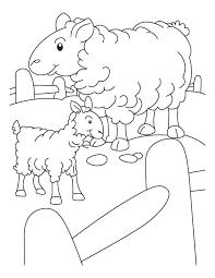 mother sheep lamb coloring download free