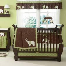 Carters Baby Bedding Sets Green Elephant 5 Baby Crib Bedding Set With Bumper By