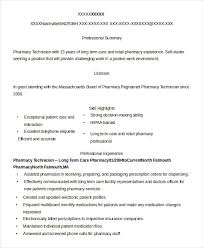 Electronic Resume Example by Pharmacy Technician Resume Example 9 Free Word Pdf Documents